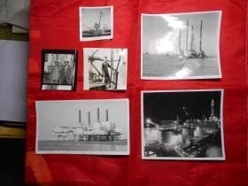 老照片:《渤海石油钻井平台》等 7幅(记者任青 七十年代 摄)