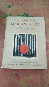 the prints of marian korn  玛丽亚科恩的印刷品 16开精装 还有 marian korn 手写签名的一封信