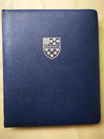 1946年 《J.M.Gibson退休纪念册》 全皮精装 彩绘手写 边框描金花饰 威斯敏斯特银行数十名同事签名