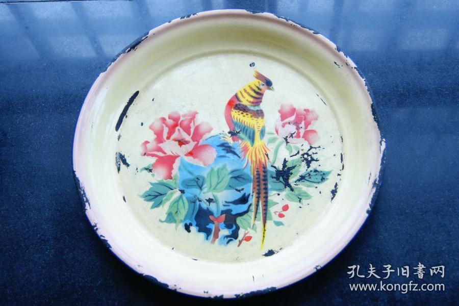 螳螂捕蝉黄雀在后搪瓷盘