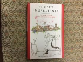 Secret Ingredients: The New Yorker Book of Food and Drink 《纽约客》美食集萃,2007精装风趣插图本,九品