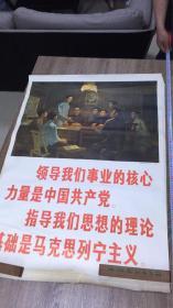 大尺寸全开 湖南共产主义小组(油画)106CM*77CM 1976年一版2印 (包老保真)