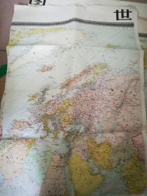 世界全圖(10張全,1959年第一版)