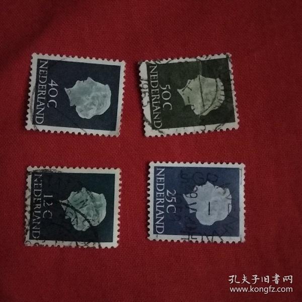 外国邮票4张