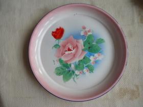 搪瓷盘子(花卉)