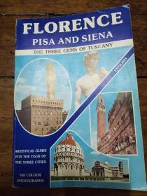 florence pisa and siena 原版画册