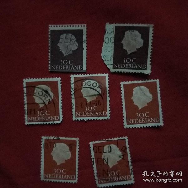 7张外国人物头像邮票