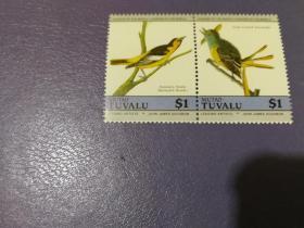 图瓦卢邮票 鸟 2枚(全新)