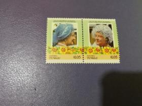 图瓦卢邮票  人物 2枚(全新)