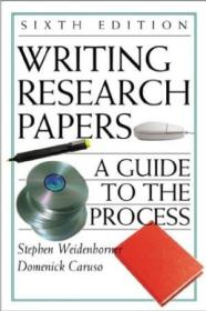 Writing Research Papers: A Guide To The Process With 2001 Apa Update