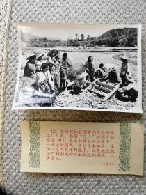 1959年老照片《贵州同仁县霸黄公社--三八红旗手姚翠莲》木工革新能手