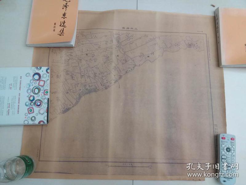 稀见民国36年上海市郊地图《三林塘镇》