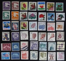 美国邮票邮票----小票一组(信销票)