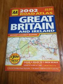 AA 2002 Road Atlas Great Britain & Northern Ireland【 AA 2002路阿特拉斯大不列颠及北爱尔兰】超大8开本彩印地图集