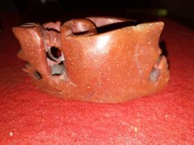 老性寿山石手工雕刻笔插——朱砂色——非常漂亮