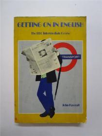 1976年再版 伦敦英国广播电台英语讲座 中级英语教程 GETTING ON IN ENGLISH 日用英语教程