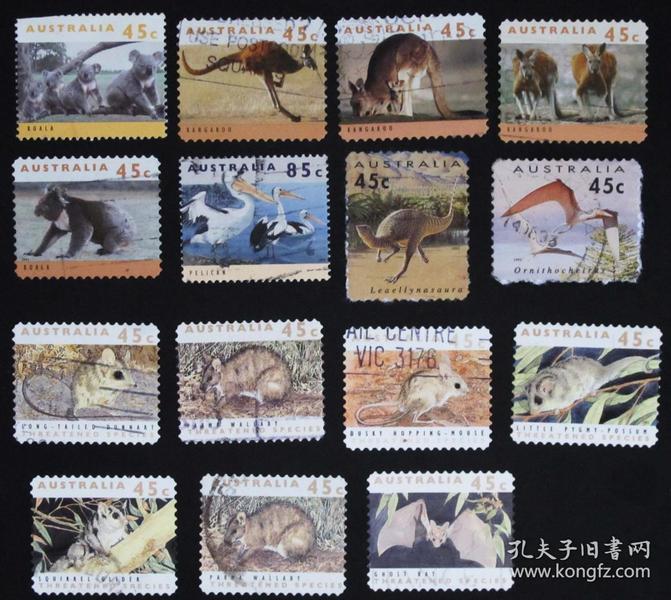 澳大利亚邮票-----动物(信销票)