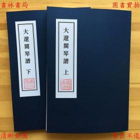大还阁琴谱-(清)徐上瀛 清康熙十二年蔡毓荣刻本(复印本)