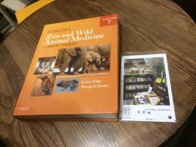 英文原版 Fowlers Zoo and Wild Animal Medicine  动物园和野生动物医学  【存于溪木素年书店】