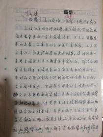 凉山夕族的道场做辈(送祖灵)钢笔手稿
