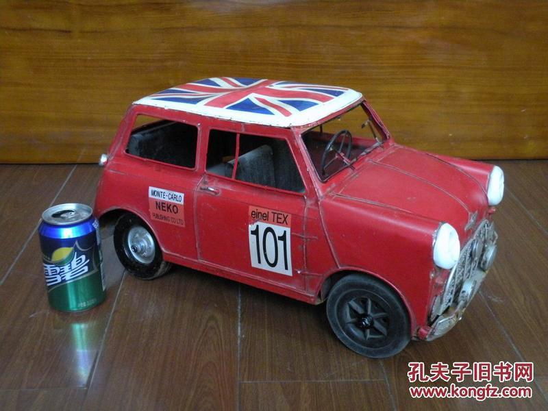 早期 超大铁皮宝马mini cooper玩具
