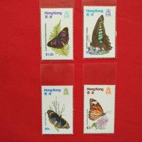 香港邮票HS18蝴蝶邮票彩色蝴蝶黑色蝴蝶昆虫类1979年收藏珍藏集邮