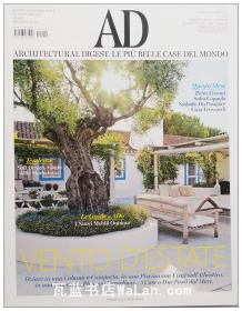 AD杂志意大利语版 2015年7月刊 建筑辑要 安邸 建筑文摘 样板房装饰陈列外文杂志 ARCHITECTURAL DIGEST