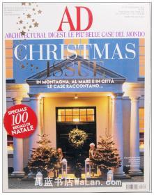 AD杂志意大利语版 2012年12月刊 建筑辑要 安邸 建筑文摘 样板房装饰陈列外文杂志 ARCHITECTURAL DIGEST