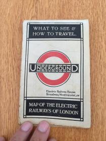 【民国欧美地图21】1920年前后伦敦出版《伦敦地铁地图》