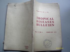 英文版:Tropical Diseases Bulletin 1993年