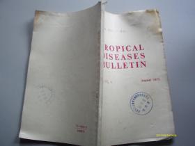 英文版:Tropical Diseases Bulletin  1973年