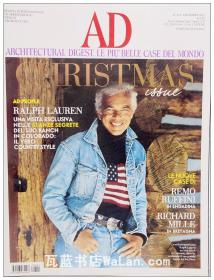 AD杂志意大利语版 2013年12月刊 建筑辑要 安邸 建筑文摘 样板房装饰陈列外文杂志 ARCHITECTURAL DIGEST