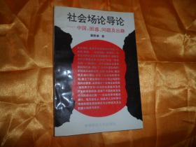 社会场论导论-中国:困惑.问题及出路