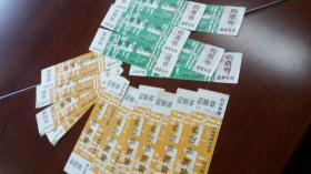 1992-1999合肥集邮协会使用 竹图邮展参观券两种16张