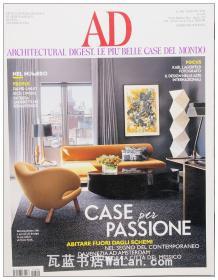 AD杂志意大利语版 2014年5月刊 建筑辑要 安邸 建筑文摘 样板房装饰陈列外文杂志 ARCHITECTURAL DIGEST
