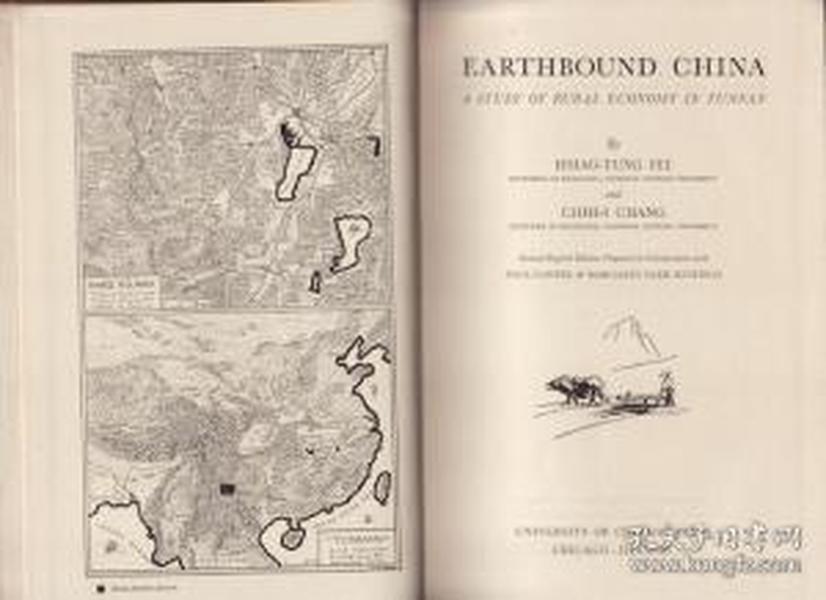 1945年/Earthbound China. A Study of Rural Economy in Yunnan 云南乡村经济考/Fei, Hsiao-Tung; Chih-I Chang