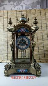 老物件,1882年铜镶彩兰老钟表,正常使用。品相及尺寸如图,拍下发顺丰快递,重23斤