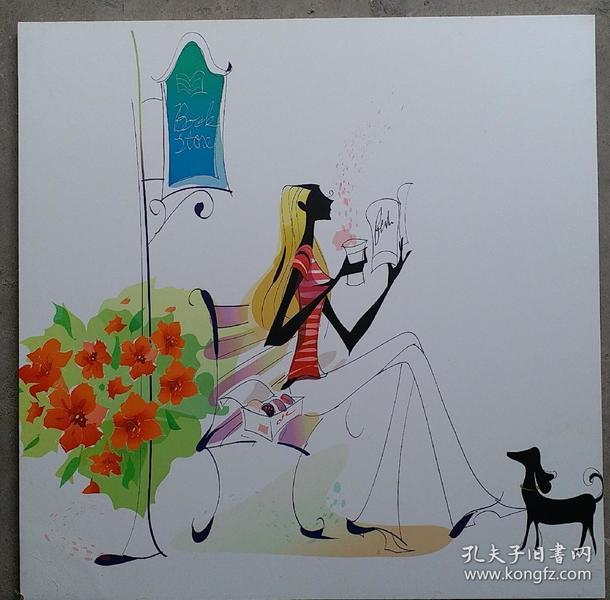 现代简约时尚装饰木版画      每块150元,三块共450元。
