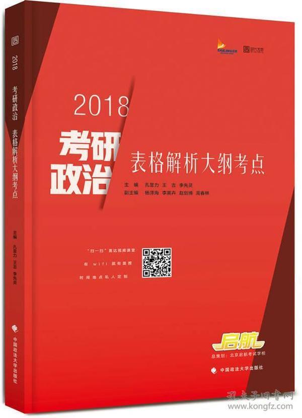 2018考研政治表格解析大纲考点
