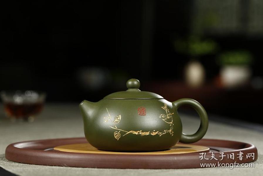 精品热销茶具名家全手工宜兴茶壶 原矿民国绿泥雅怡西施紫砂壶
