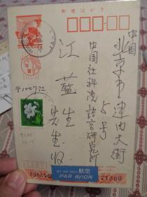 岩田太郎致江蓝生贺年明信片1995年