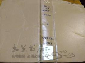 原版英法德意等外文书 THE INDIAN LAW REPORTS MADRAS SERIES R.STTARAMAN COVERNMENT OF TAMIL NADU 1975年 大32开硬精装
