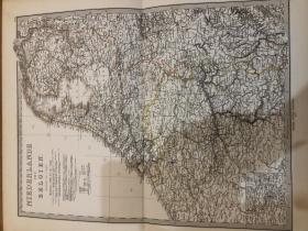 1877年 荷兰比利时地图 48.5*44cm