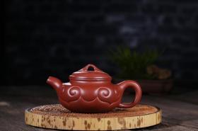 宜兴紫砂壶名家全手工精品 原矿正品大红袍如意仿古茶壶功夫茶具
