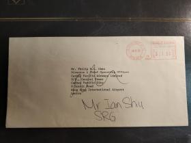 香港九十年代国泰航空公司信封一枚