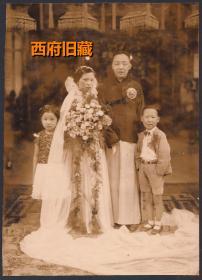 民国老照片,大尺寸结婚照