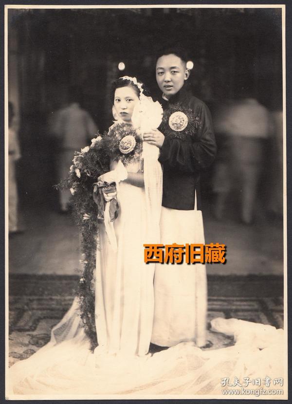 民国老照片,大尺寸特色结婚照