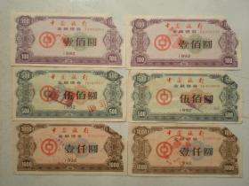 1992年中国银行金融债券两套