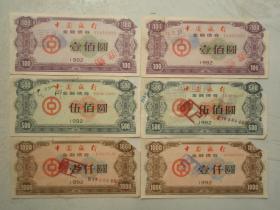 1992年中国银行金融债券两套(2)