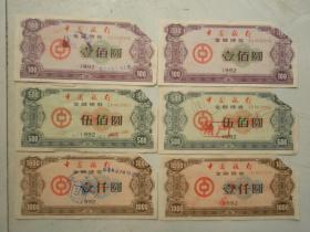 1992年中国银行金融债券两套(3)